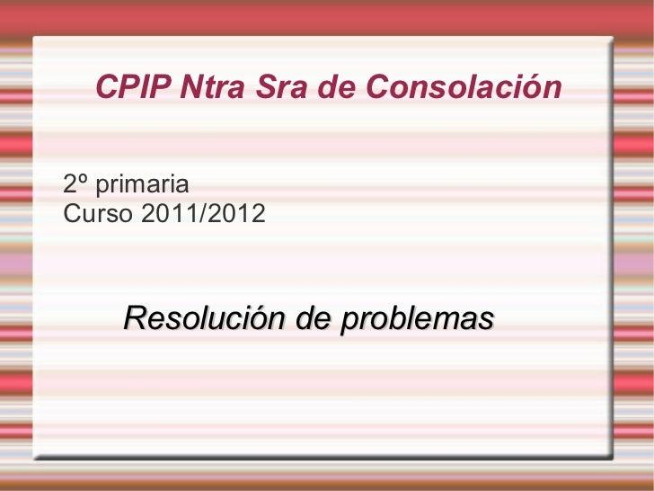 CPIP Ntra Sra de Consolación <ul><li>2º primaria