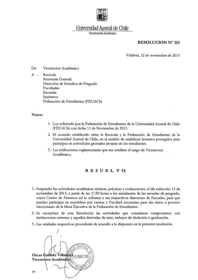 Resolución nº113 suspensión de clases (13 noviembre) PARA ELEGIR SUS TRICEL