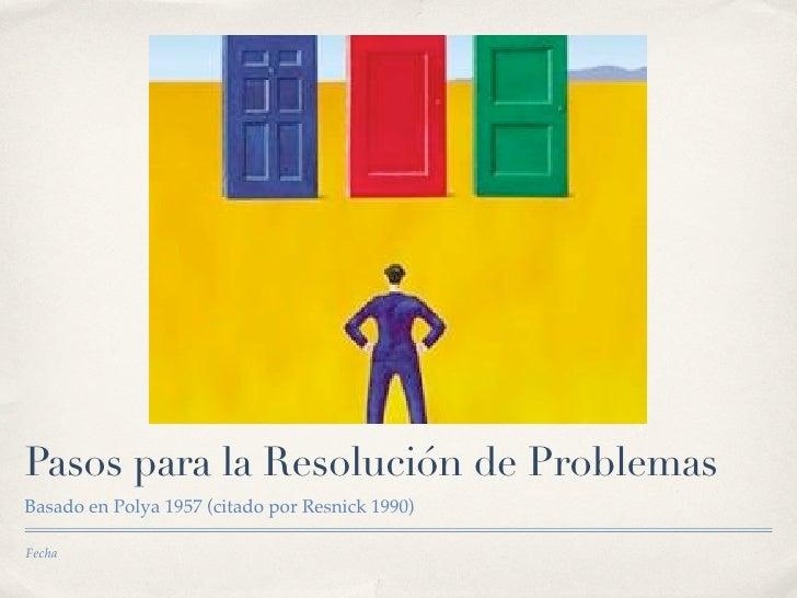 ResolucióN Problemas