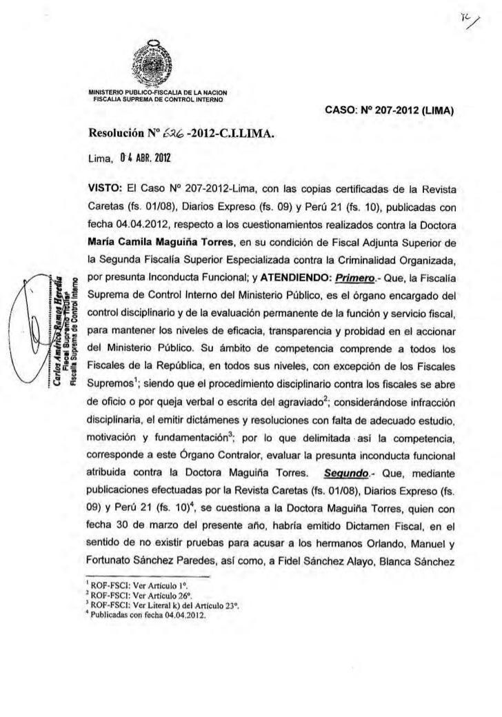 Resolucion Inv Preliminar Fiscal Maguina