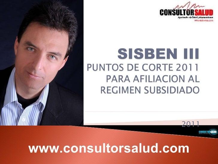 Resolucion 3778 de 2011   sisben iii puntos de corte - consultorsalud