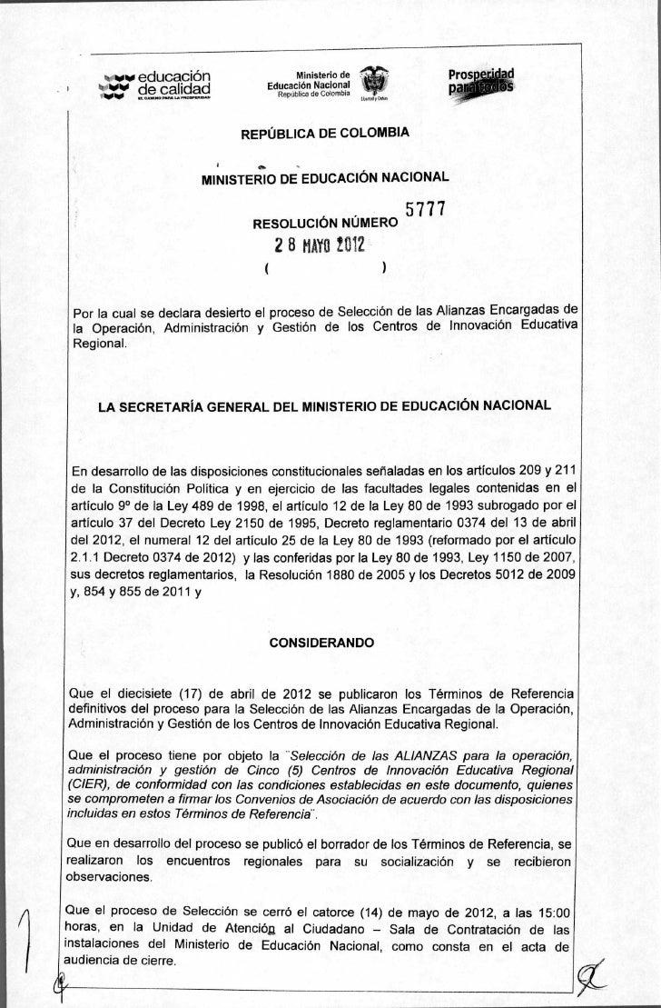 w educación                      Ministerio de                                   Educación Nacional       `010 de calidad ...