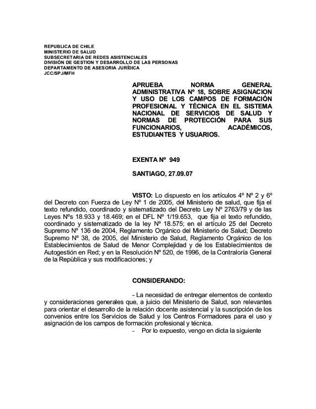 REPUBLICA DE CHILEREPUBLICA DE CHILE MINISTERIO DE SALUDMINISTERIO DE SALUD SUBSECRETARIA DE REDES ASISTENCIALESSUBSECRETA...