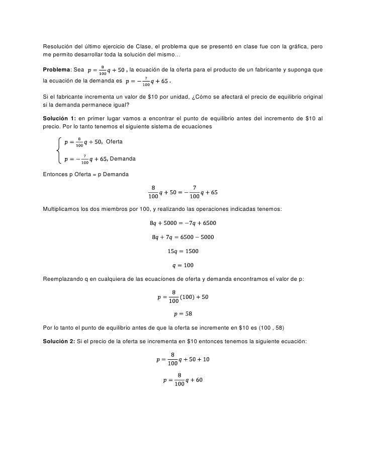Resolución del último ejercicio de Clase, el problema que se presentó en clase fue con la gráfica, pero me permito desarro...