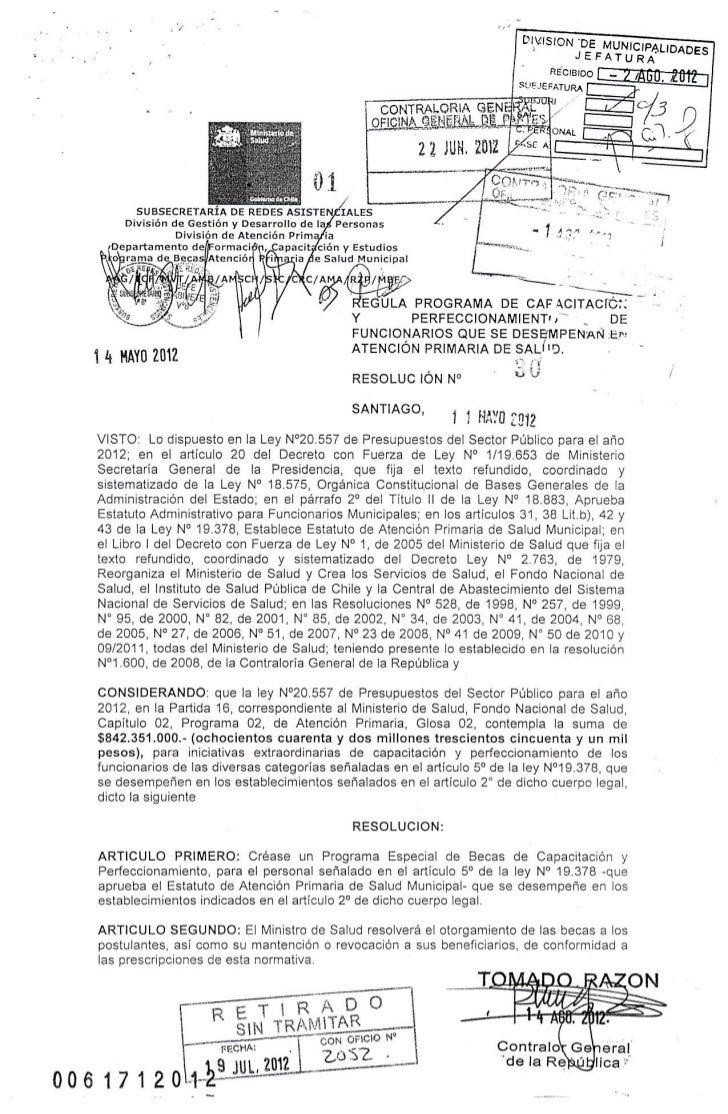 Resolucion n° 30 regula pasantías aps 2012 t.r.