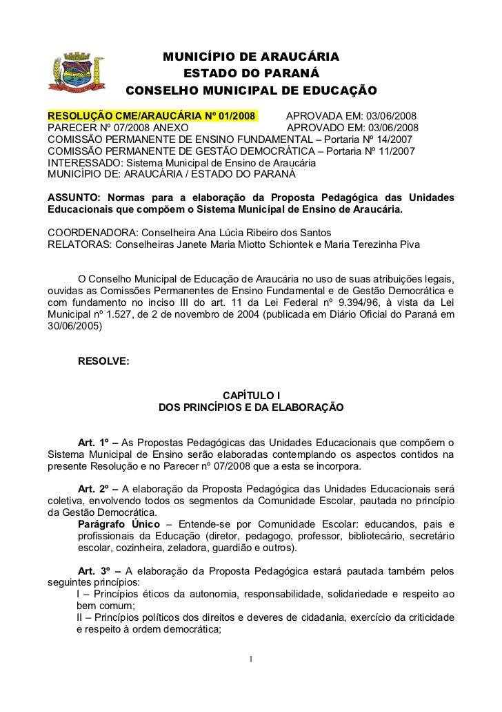 Resoluções 2008