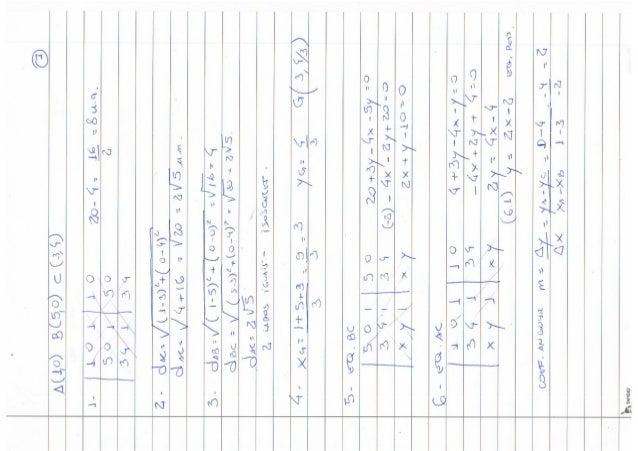 Resolução Prova de Geometria Analítica