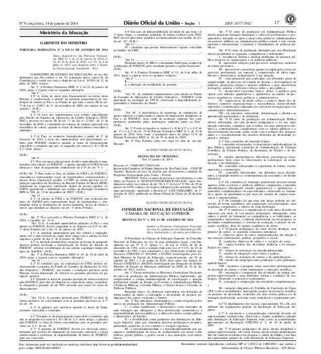 Resolução ces 1 2014 dcn administração pública-dou 14-1-2014_seção 1_p. 17