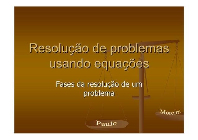 Resolução de Problemas (Equações)