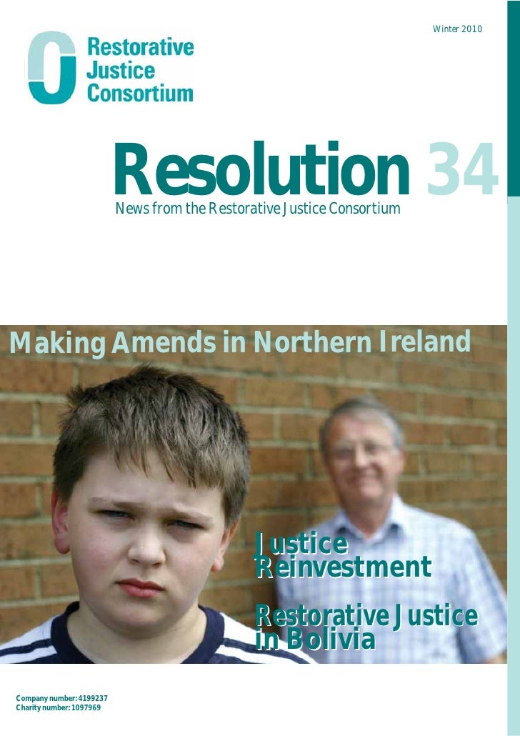 Winter 2010                              Resolution 34                          News from the Restorative Justice Consorti...