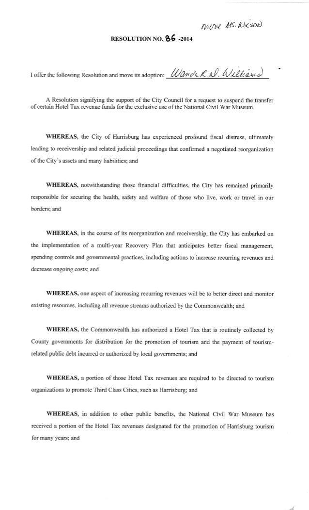 Resolution 86 2014