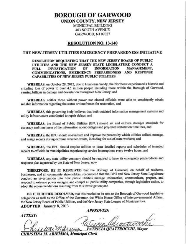 Resolution no. 13 140