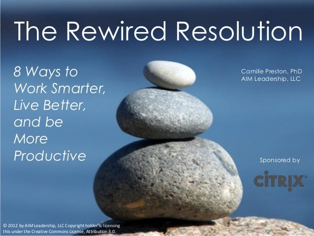 The Rewired Resolution     8 Ways to                                                Camille Preston, PhD                  ...