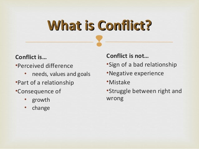 Is conflict a sign of bad relationship