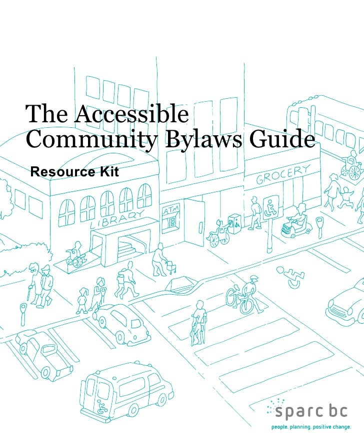 Resource Kit For The Accessible Community Bylaws Guide