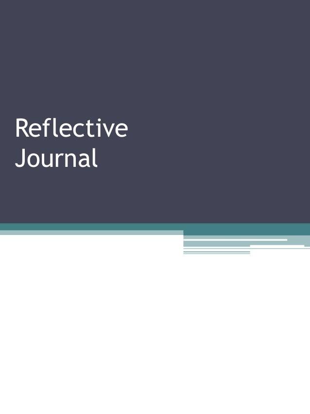Best Reflective Journal Sample