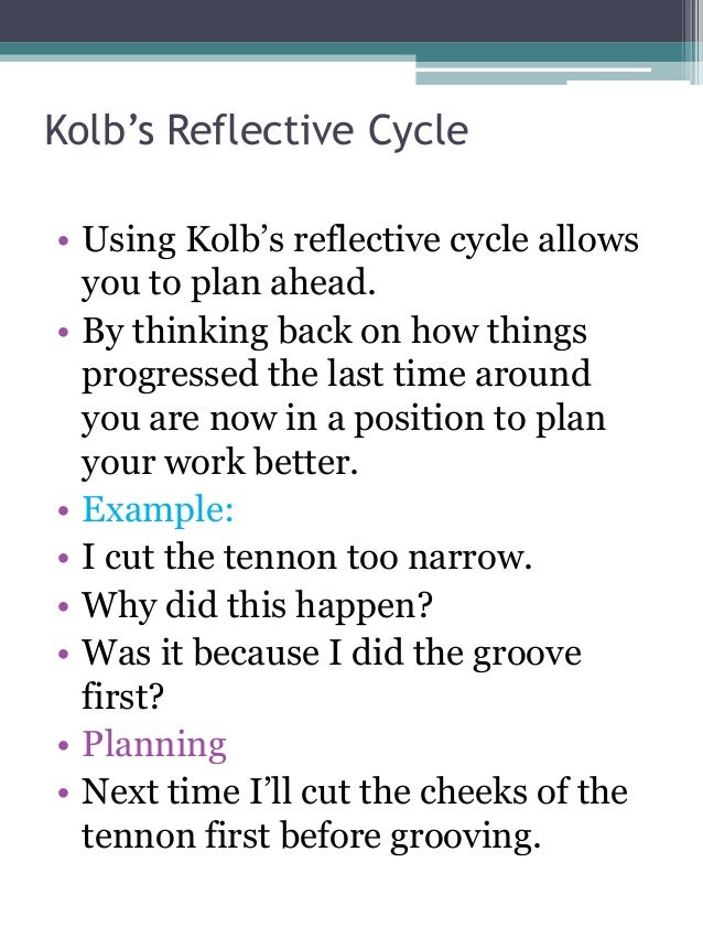gibbs reflective model template - kolb model essay sample