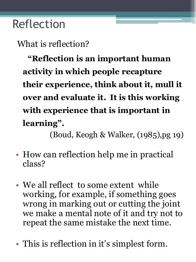 reflective journal example Learn how we can provide you all of the support and help that you need with reflective journal writing.