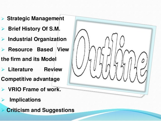 2 industrial organization resource based models