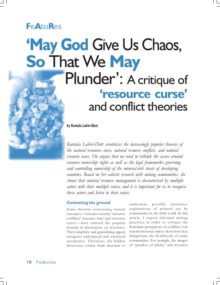 FeAtuRes                                                 75    'May God Give Us Chaos,    So That We May         Plunder':...