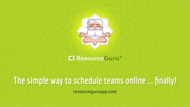 Resource Guru Presentation at TechStartupJobs Fair London 2014