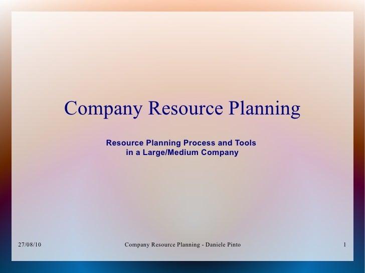 Company Resource Planning