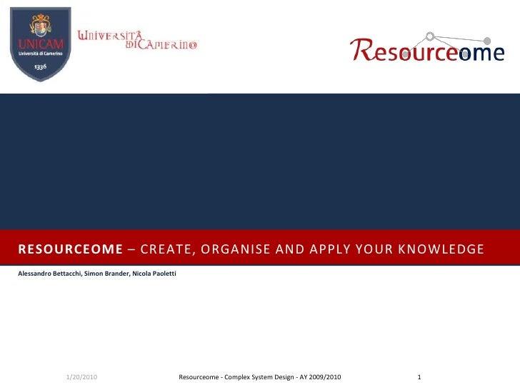 Resourceome presentation