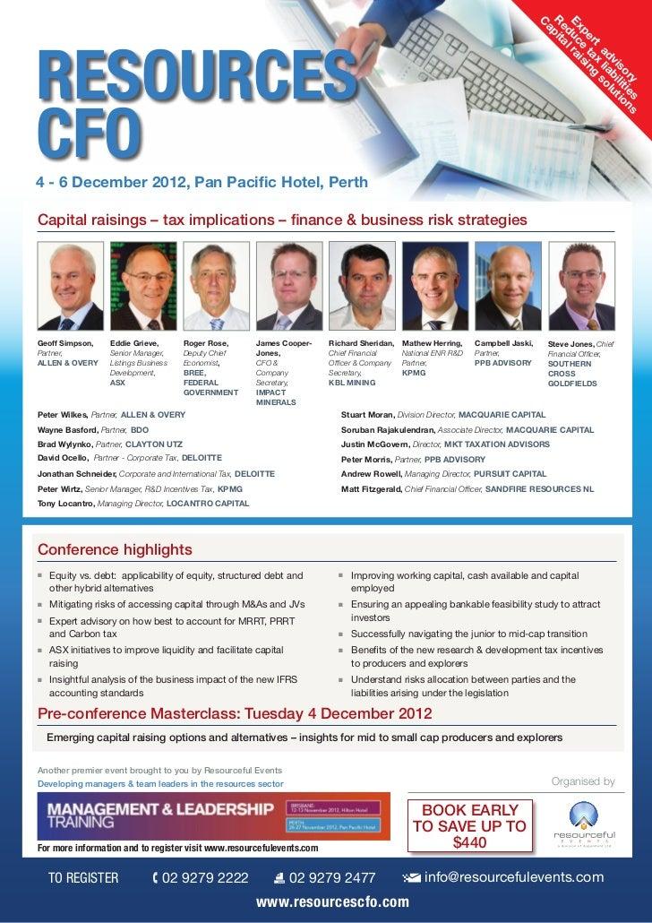 Resources CFO 2012