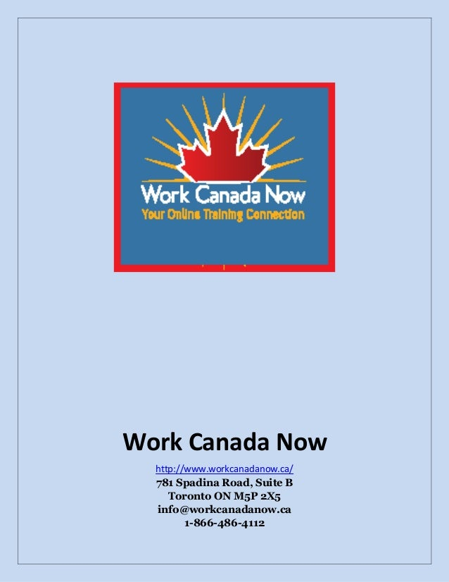 Resources for work in canada