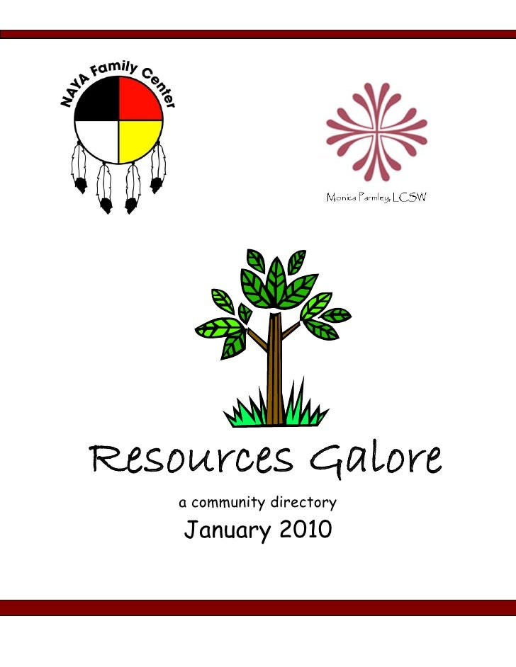 Resources Galore     a community directory      January 2010