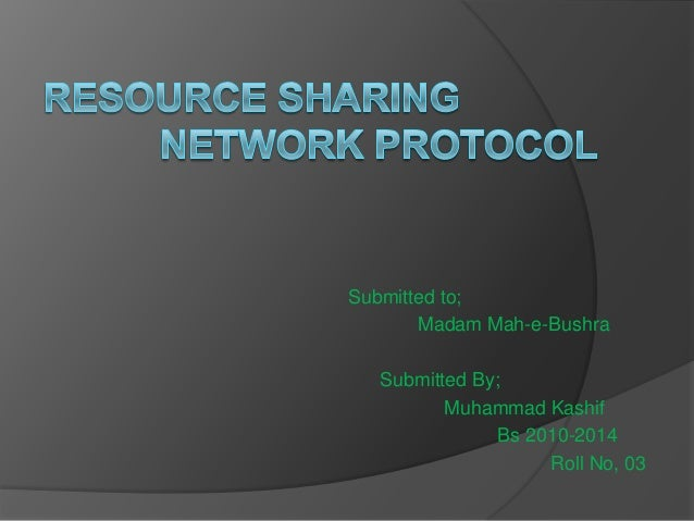 Resource sharing network protocol in library Science (presentation)