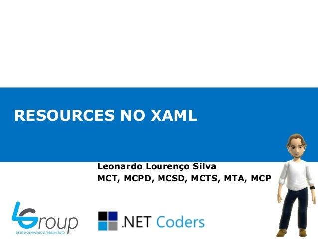 Resources no XAML