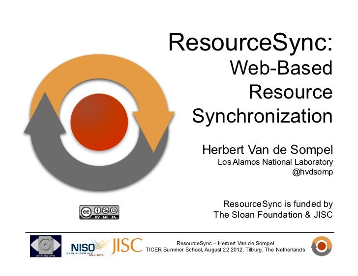 ResourceSync:                    Web-Based                      Resource                 Synchronization                  ...