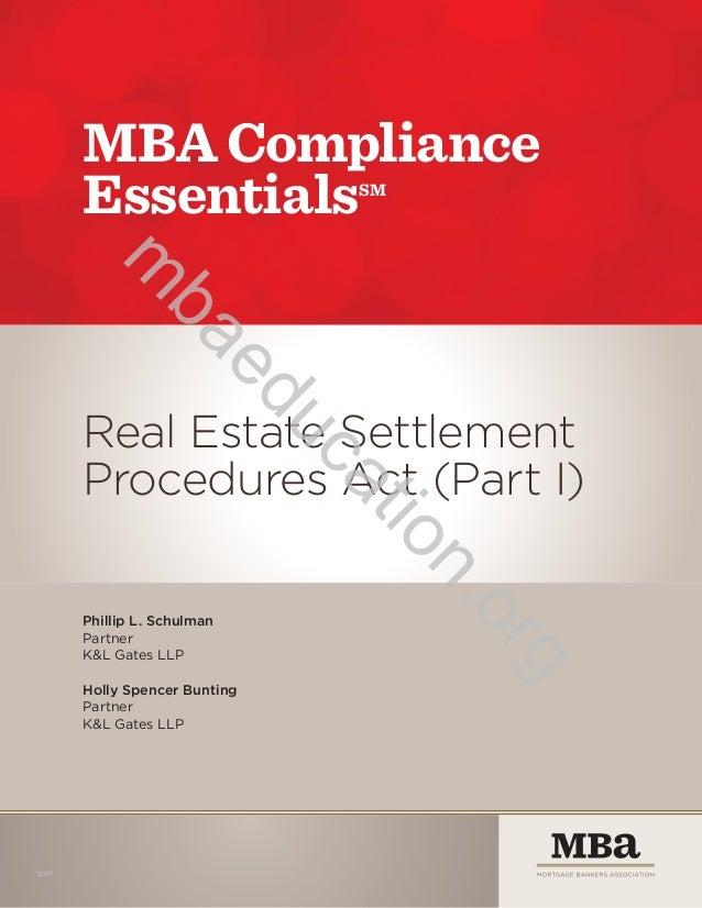 MBA Compliance Essentials SM  ba  m ed  Phillip L. Schulman Partner K&L Gates LLP Holly Spencer Bunting Partner K&L Gates ...