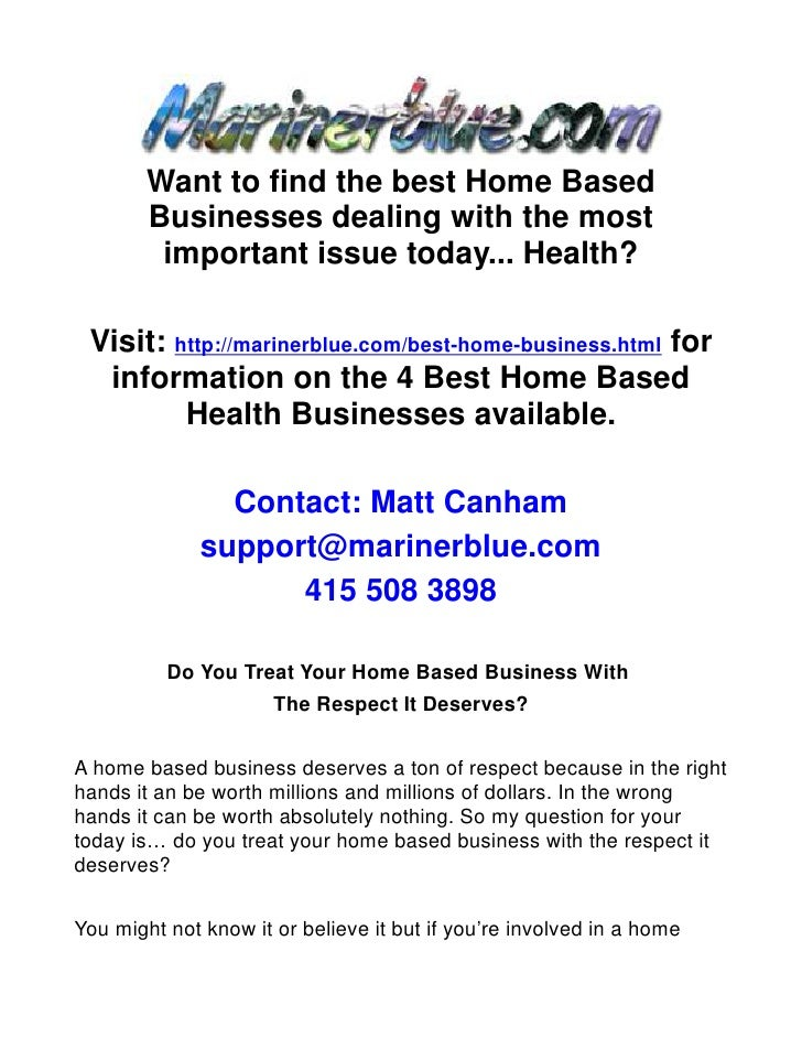 Do You Treat Your Home Based Business With The Respect It Deserves?