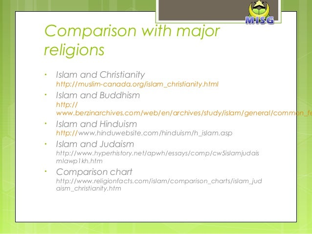 similarities and differences of christianity and islam Religion essays: similarities and differences between christianity, judaism and islam.