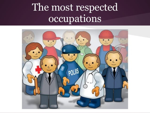 The most respected occupations