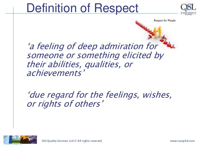 what trust and respect mean and Another word for respect verb to have a high opinion of: admire, consider, esteem, honor, regard, value idioms: look up to, think highly (or much) (or well) of.