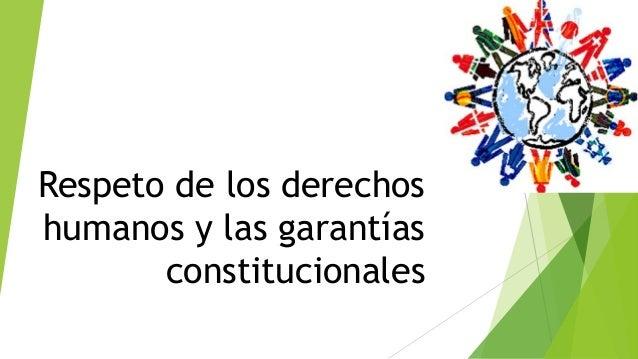 Respeto de los derechos humanos y las garantías