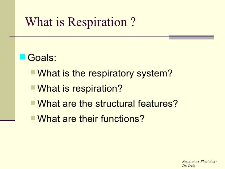 Respiration Lecture