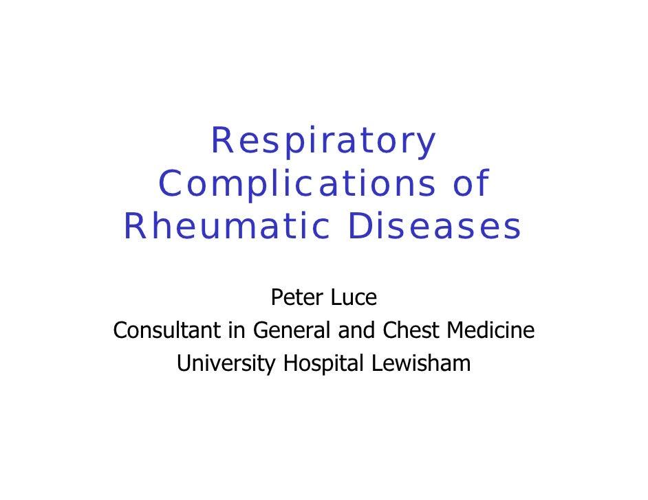 Respiratory Complication Of Rheumatic Disease