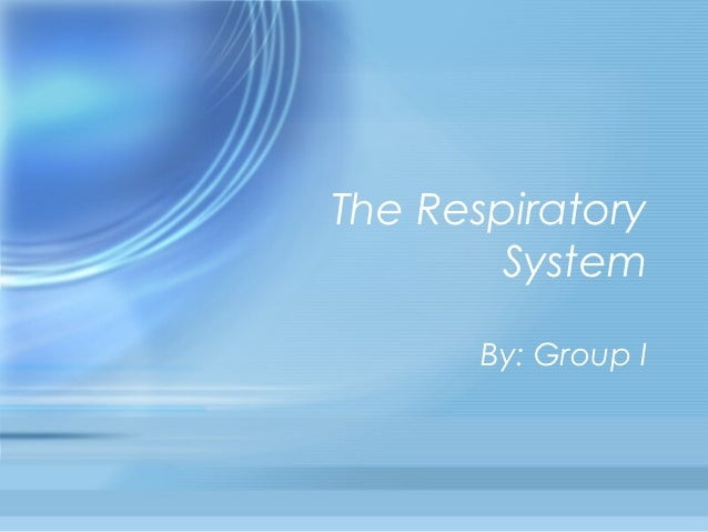 The Respiratory        System       By: Group I