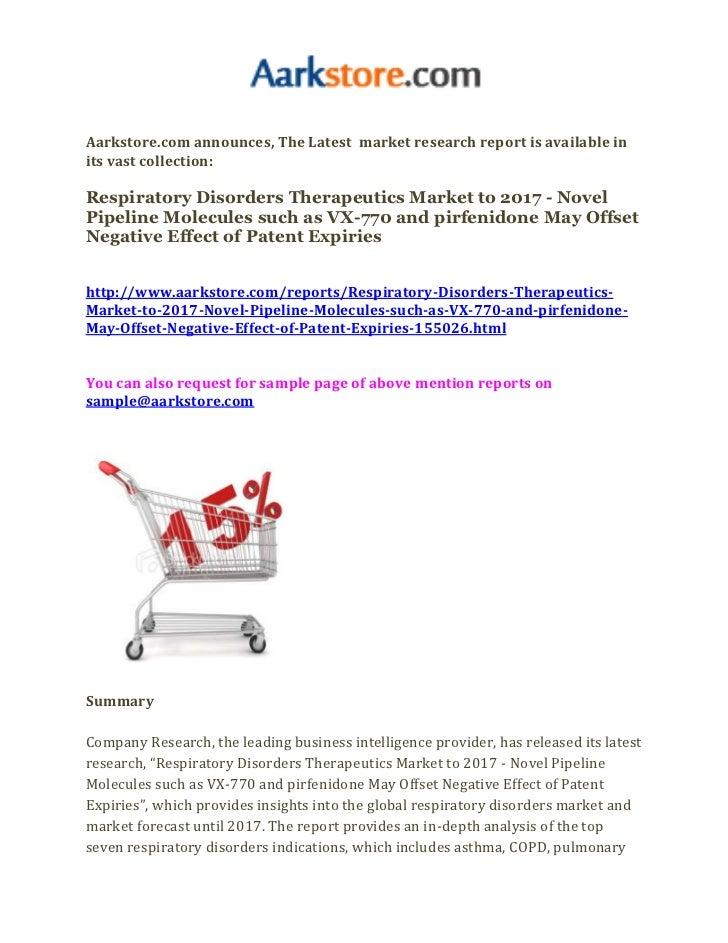 Respiratory disorders therapeutics market to 2017   novel