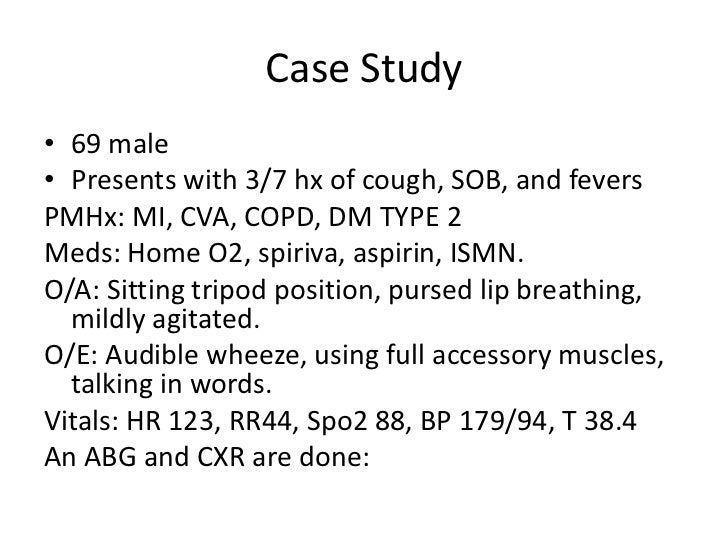 clinical case studies copd