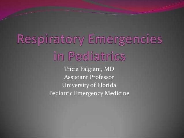 Respiratory Emergencies in Pediatrics
