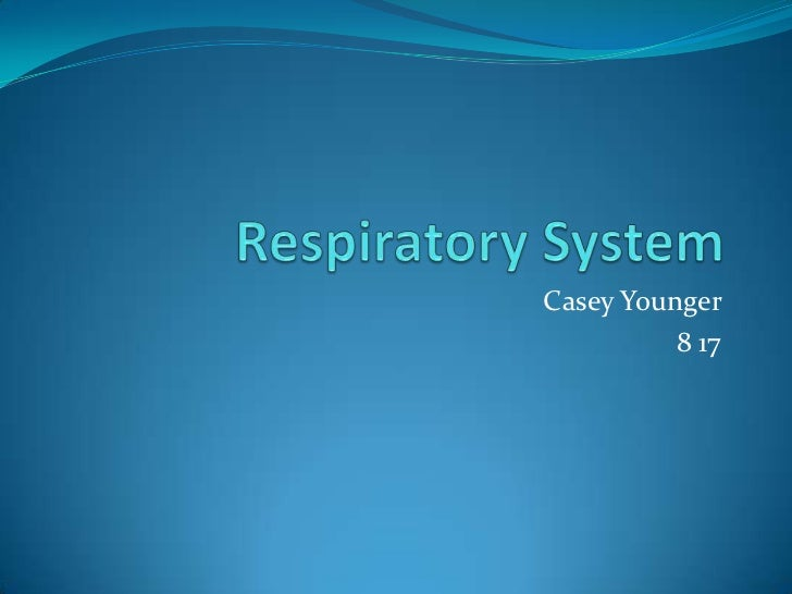 Respiratory System<br />Casey Younger <br />8 17<br />