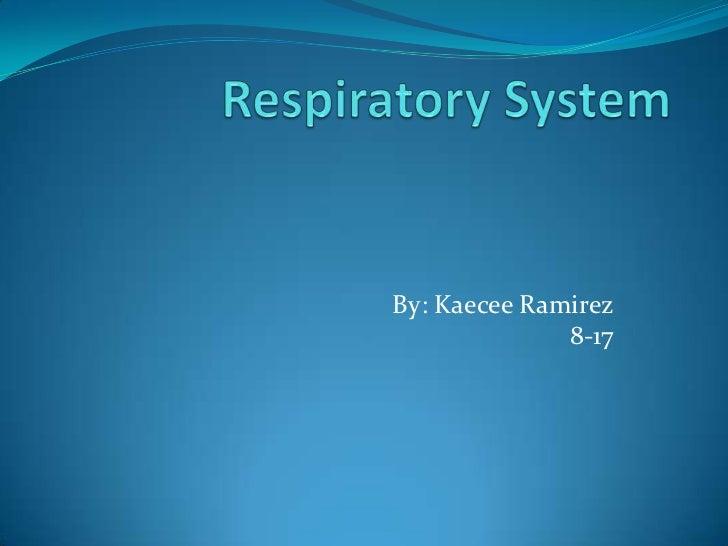 Respiratory System<br />By: Kaecee Ramirez8-17<br />