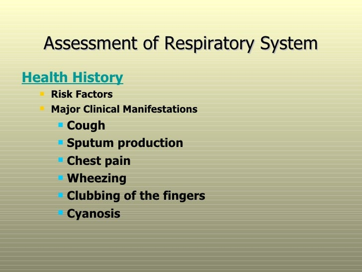 respiratory assessment essay Need essay sample on hesi case study pediatric, respiratory syncytial virus (rsv) bronchiolutiswe will write a custom essay.