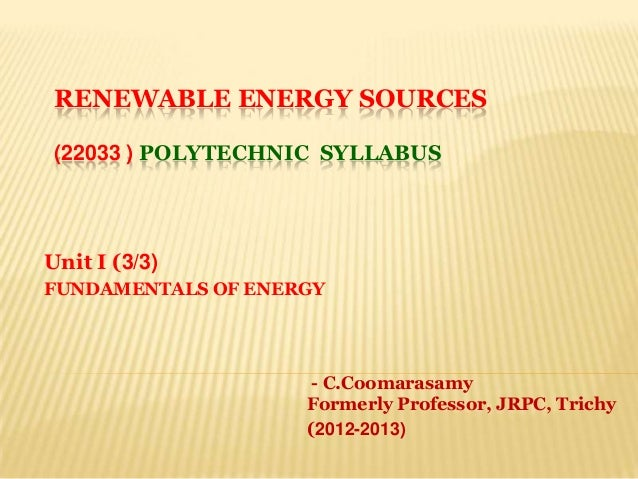 Res poly unit i (3)ppt