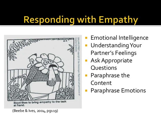 Paraphrasing in counselling